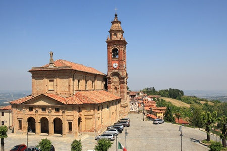 campanile: View on old church situated in Diano D