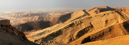 arava: Panoramic view on mountains of Arava desert in Israel.