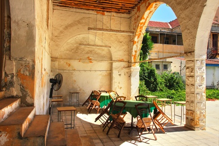 Old backyard in Larnaca, Cyprus.
