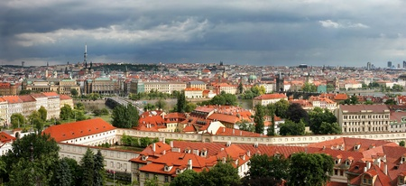 Panoramic aerial skyline view of Prague, Czech Republic. Stock Photo - 10661843