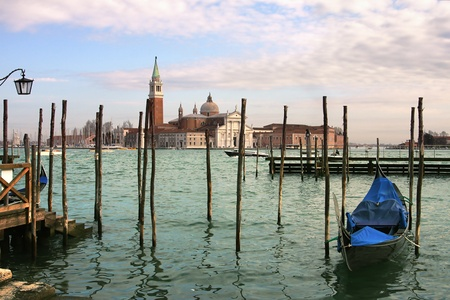Grand Canal and San Giorgio Maggiore church in Venice, Italy. photo
