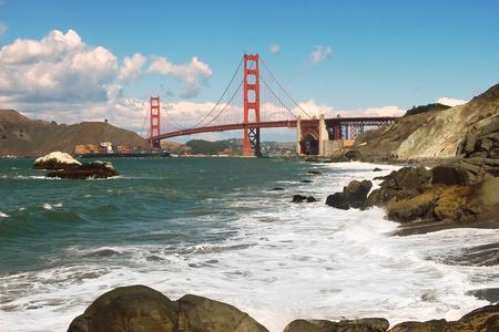 golden gate: Puente Golden Gate visto desde Baker Beach.
