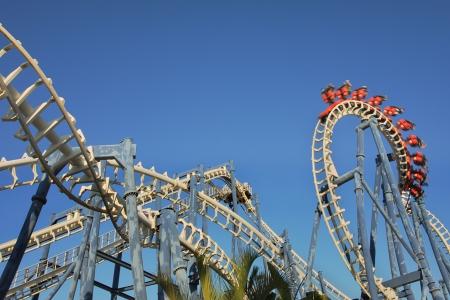 Roller coaster loop in Luna Park, Tel Aviv. Stock Photo