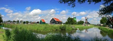 Zaanse Schans - famous dutch village near Amsterdam in Netherlands (Holland). Stock Photo