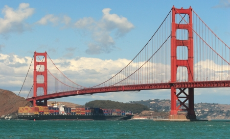 San Francisco Bay and Golden Gate Bridge. photo