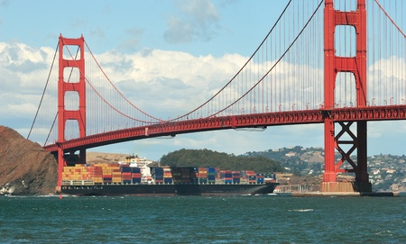 San Francisco Bay and Golden Gate Bridge. Stock Photo - 13214349