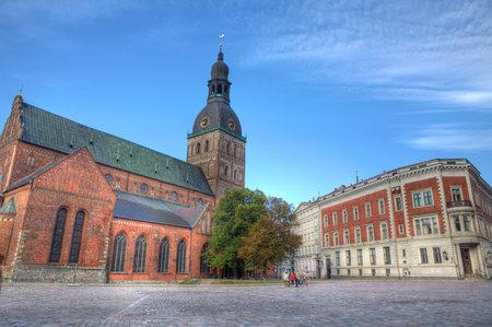 dom: La cathédrale Dom - célèbre cathédrale protestante de Riga, Lettonie