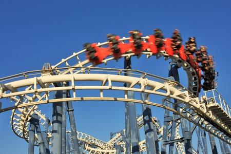 Roller coaster loop in Luna Park, Tel Aviv, Israel