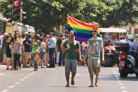 June 12 2009 - Tel-Aviv: Annual Gay Pride Parade in Tel-Aviv. Stock Photo - 13744129