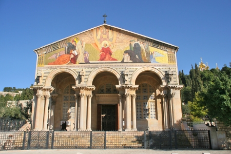 Church of All Nations facade in Jerusalem, Israel
