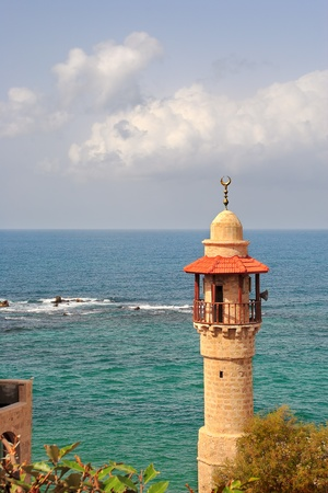 yafo: Vertical oriented image of old mosque
