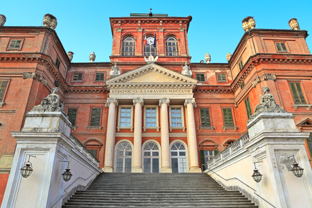racconigi: The Royal House of Savoy palace located in town of Racconigi, Italy  exterior view