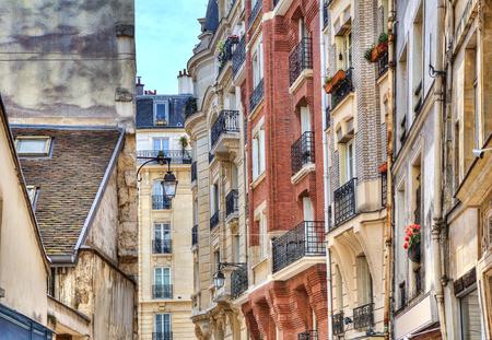 parisian: Traditional parisian residential buildings  Paris, France