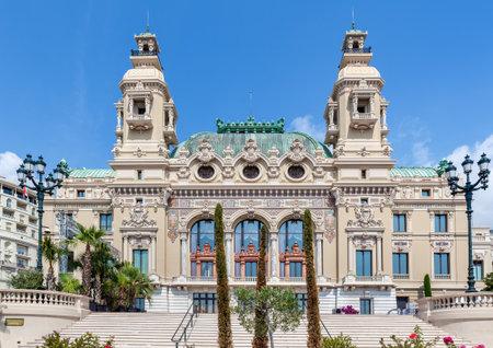 carlo: Facade of Salle Garnier - entertainment complex contains Casino and Opera in Monte Carlo, Monaco