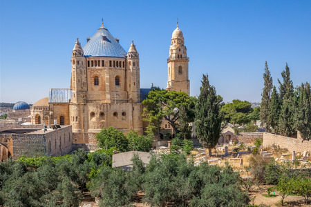 Abbey of the Dormition and catholic cemetery in Old City of Jerusalem, Israel. photo