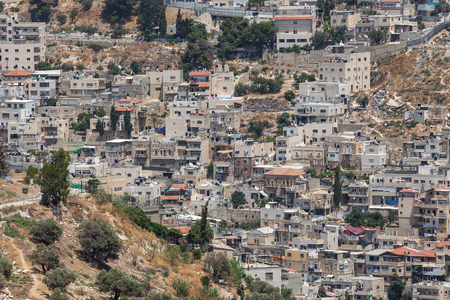 palestinian: View of Silwan - palestinian town near Jerusalem, Israel.