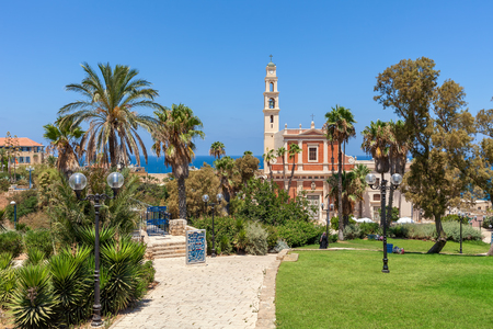 yaffo: View of St. Peters Church in Jaffa, Israel.