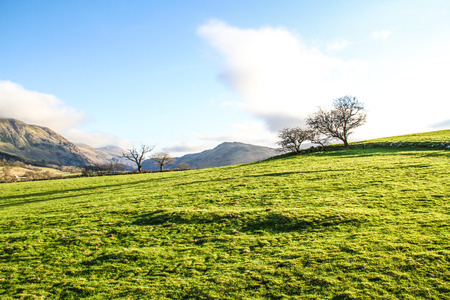 Beatiful fields and mountains in Ambelside, Cumbria Stock Photo
