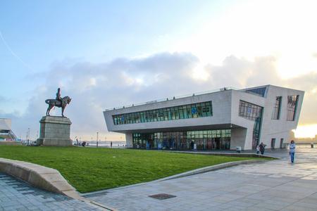 Pier Head Ferry Terminal in Liverpool, Merseyside