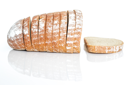 Rye bread is a type of bread made with various proportions of flour from rye grain Stock Photo