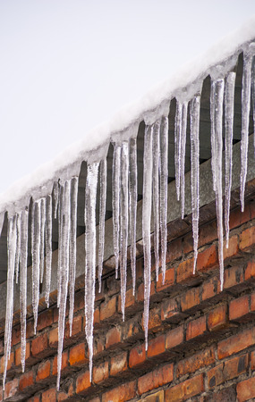 grew: Icicles grew on the roof edge in winter