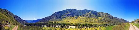 katun: Panoramic view of the valley of the river Katun in the Altai Mountains