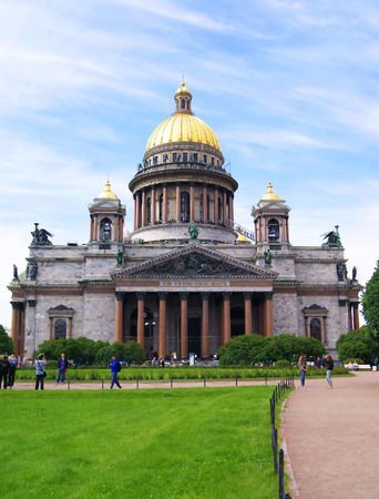 isaac: View of Isaac Cathedral in Saint Petersbug Stock Photo