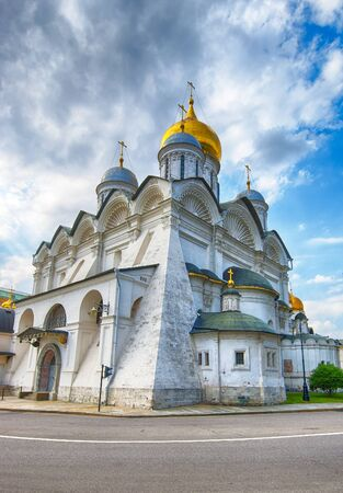 Cathedral of the Archangel in Moscow Kremlin ancient orthodox church of Russia Stock Photo