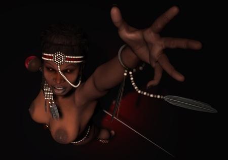 priestess: Voodoo Priestess Stock Photo