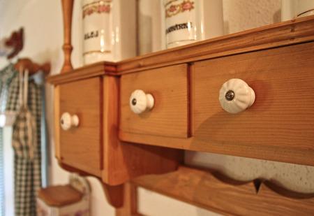 drawer: Kitchen wooden drawer Stock Photo