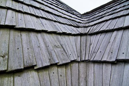 shingle: Wooden shingle roof