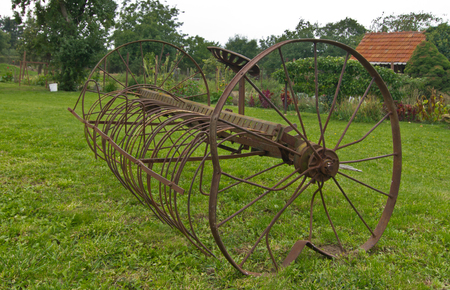 agriculture machinery: Old seeding machine