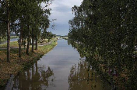 Bata navigable canal on Morava river in Czech Republic