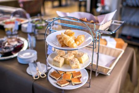 swedish: Croissant on swedish table at the restaurant