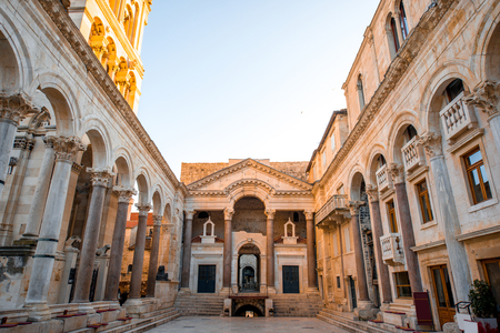 Cathedral square in Split city in Croatia Stok Fotoğraf