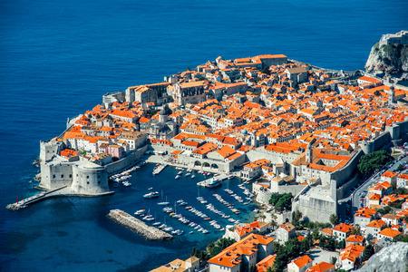 Dubrovnik old city top view in Croatia photo
