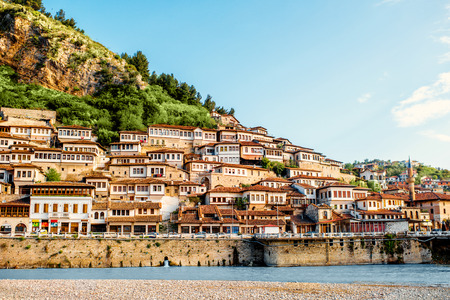 Historic city of Berat in Albania  Stock Photo