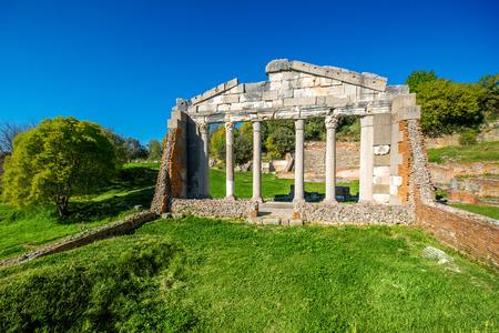 Temple ruins in Ancient Apollonia in Albania Banco de Imagens