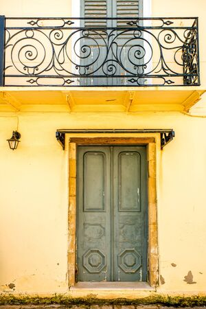 coloful: Old coloful painted vintage door in Greece