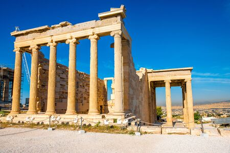 acropolis: Erechtheum temple in Acropolis in Athens, Greece