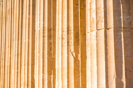 ionic: Ionic column background in Acropolis in Greece Stock Photo