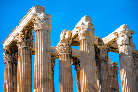 Corinthian columns of Zeus temple in Athens, Greece photo