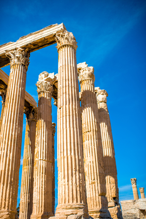 olympian: Corinthian columns of Zeus temple in Athens, Greece