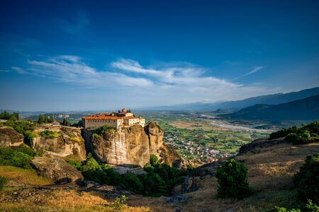 stephen: The Holy Monastery of St. Stephen at the complex of Meteora monasteries in Greece Stock Photo