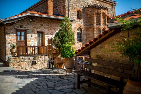 Inside the Holy Monastery of Great Meteoron at the complex of Meteora monasteries in Greece photo