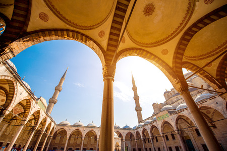 Famous Blue Mosque Sultan Ahmet Cami in Istanbul, Turkey