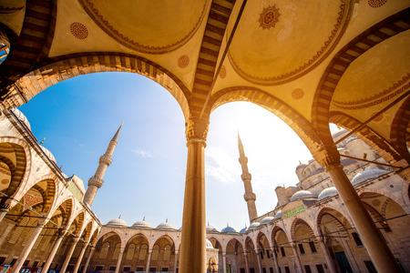 Mosquée Famous Blue Sultan Ahmet Cami à Istanbul, Turquie Banque d'images