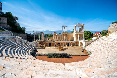teatro: Teatro romano de Philippopolis en Plovdiv, Bulgaria
