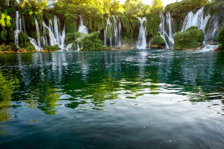 Beautiful view on Kravica waterfall in Bosnia and Herzegovina