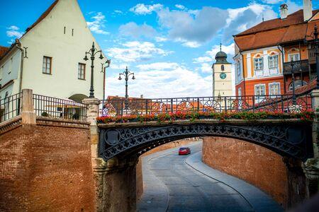 Die Brücke der Lügen in Sibiu Stadt, Rumänien Standard-Bild - 42116500